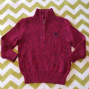 Chaps Red & Black Sweater 2t